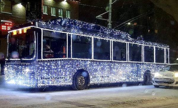 Рух громадського транспорту на Різдво та Новий рік
