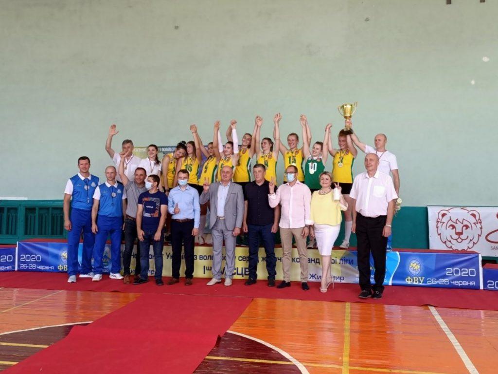 Житомирська жіноча команда перемогла у Першості України з волейболу